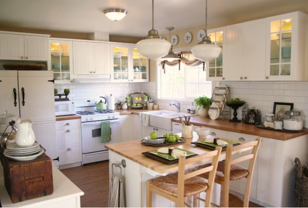 10 small kitchen island design ideas practical furniture for Kitchen designs for small spaces