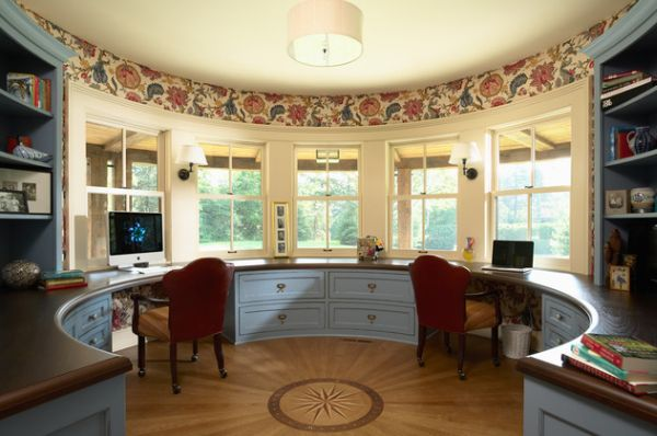 15 ideas for a multipurpose office work space for Sunroom office design