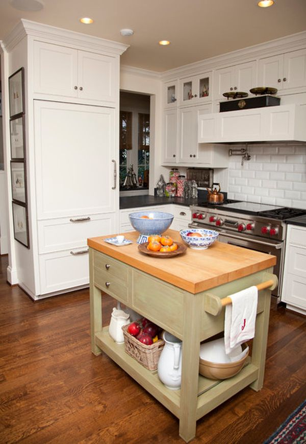 10 small kitchen island design ideas practical furniture for Kitchen ideas no island