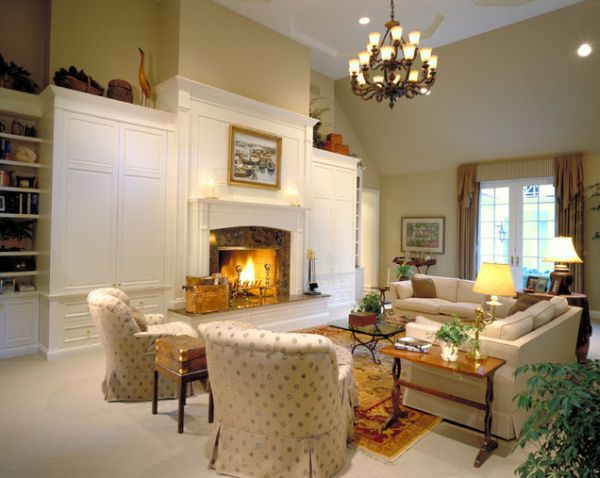 View In Gallery Neutral Living Room With Soft Lighting