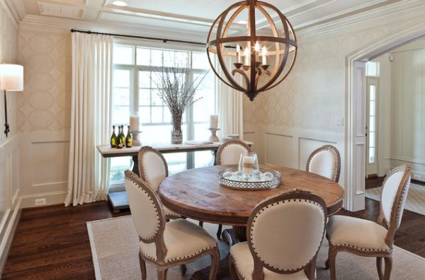 View In Gallery Contemporary Dining Room With A Round Table And Elegant Chairs