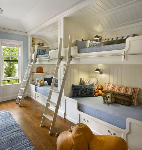 View In Gallery Contemporary Bunk Beds For Four