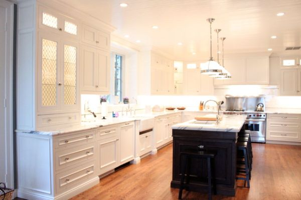 View In Gallery A Traditional L Shaped Kitchen