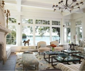 Amazing How To Decorate A Living Room With Large Windows Awesome Design