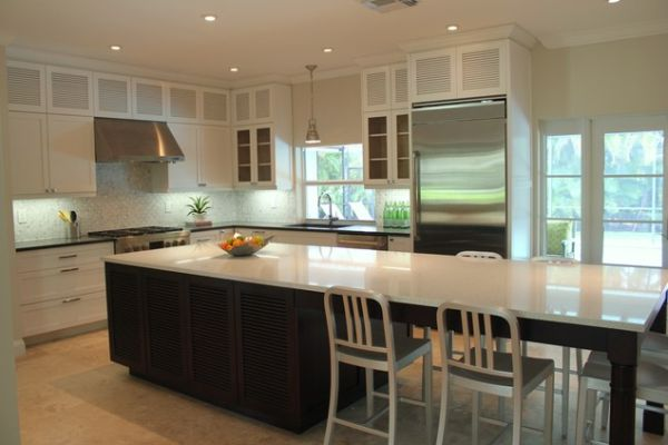 30 kitchen islands with tables a simple but very clever combo for Kitchen island table with chairs