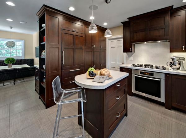 10 small kitchen island design ideas practical furniture for Small kitchen layout with island
