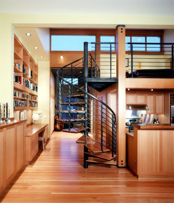 Kitchen Stairs Living Room