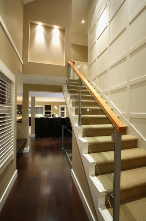 How to maximize a staircase wall for Gorgeous modern staircase wall design
