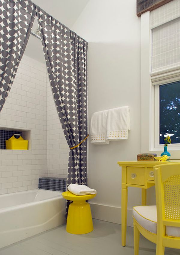 Charming Bathroom Curtain Ideas Part - 12: View ...