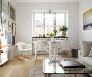 47 square meter apartment featuring designer furniture and a Nordic décor