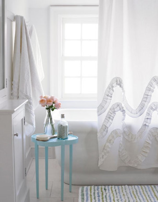 Add A Textured Shower Curtain, Not Color