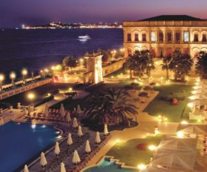 The spectacular Çırağan Palace luxury hotel from Istanbul, Turkey