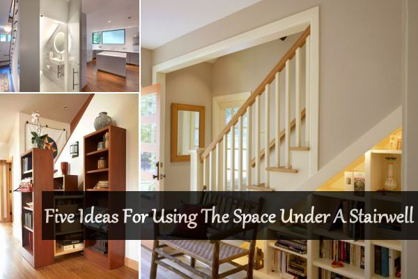 Five ideas for using the space under a stairwell for How to use the space under staircase