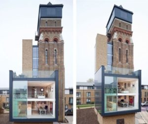 An 1877 water tower in London transformed into a luxury home