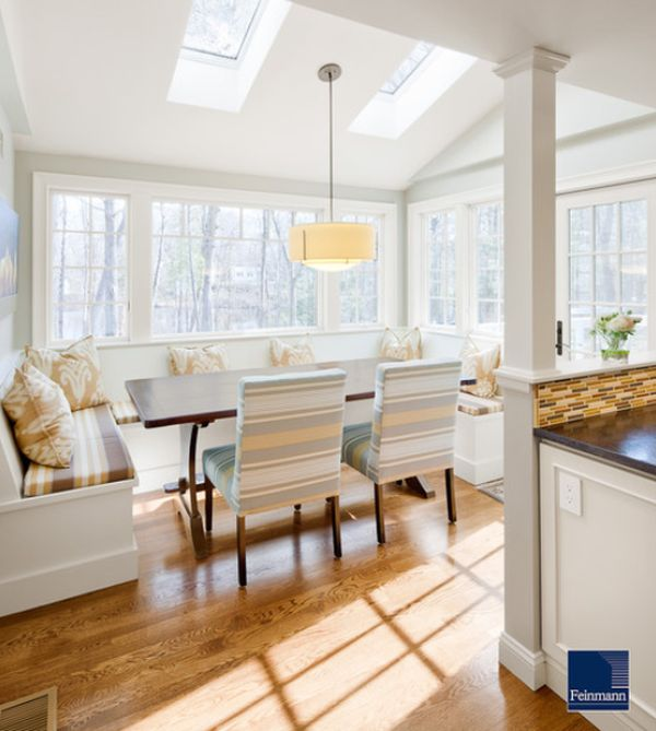 L Shaped Kitchen Island With Seating: 13 Cozy, Comfortable And Delightful Breakfast Nooks For
