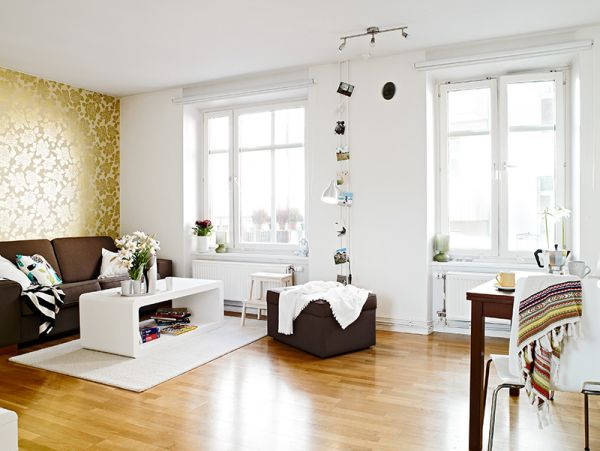 A small flat with a difficult layout and great decorating for Home interior for small flats