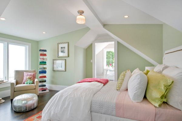 View In Gallery Serene Bedroom Featuring Pastel Green