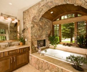 Bathroom fireplaces – a luxurious and welcomed accent feature