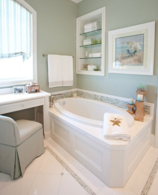 View in gallery Practical built-in storage shelves in the bathroom ...
