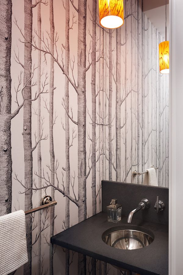 Wallpaper when it works it really really works for Bathroom wallpaper designs