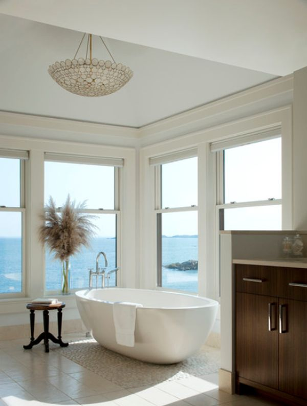 Stunning Winter Views Enjoyed From The Bathtub