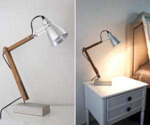 Diy floor lamps 15 simple ideas that will brighten your home 5 simple and inventive diy bedside table lamps solutioingenieria Images