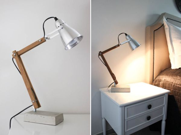 5 simple and inventive diy bedside table lamps view in gallery aloadofball Gallery