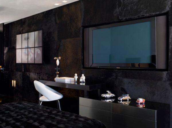 Black Room Design using black as the main color for your interior décor