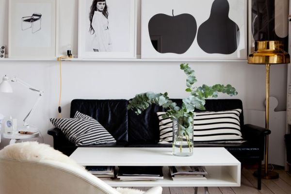 Black And White Decorating beautiful black and white décor in a small apartment