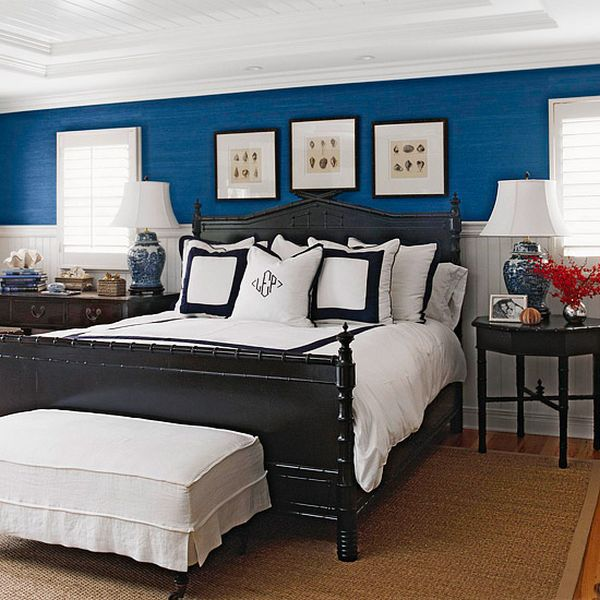 Nice Bedroom Chairs Blue Accent Wall Bedroom Bedroom Furniture King Size Childrens Bedroom Art: 5 Rooms To Create With Navy Blue Walls
