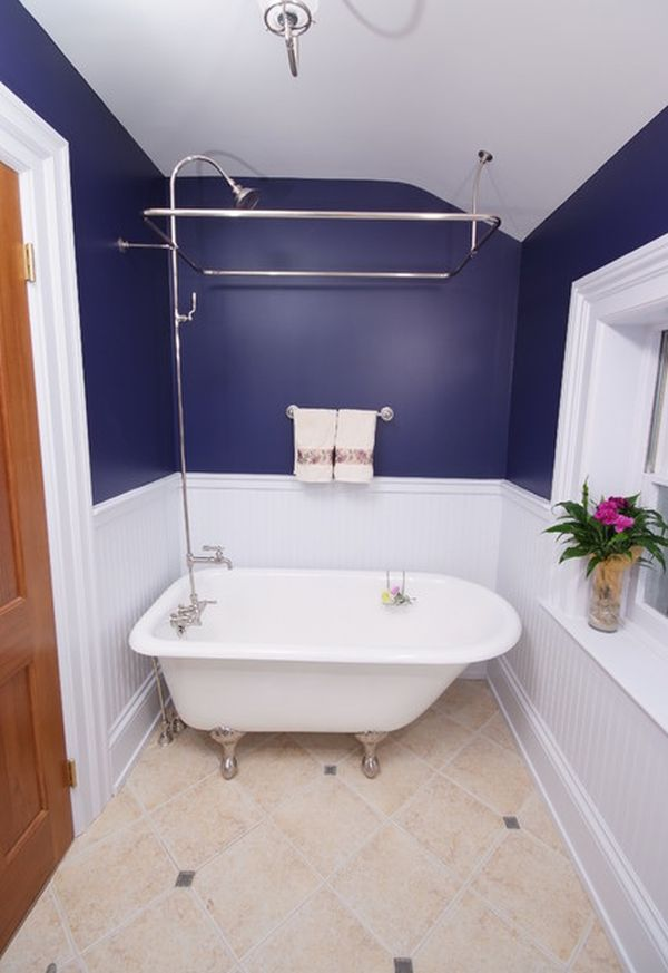 ... Bathroom Featuring A Tiny White Tub And Compact Shower Unit View ... Part 17