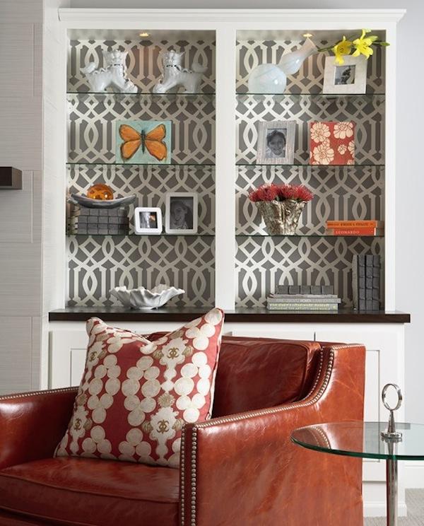 bold wallpaper bookshelf
