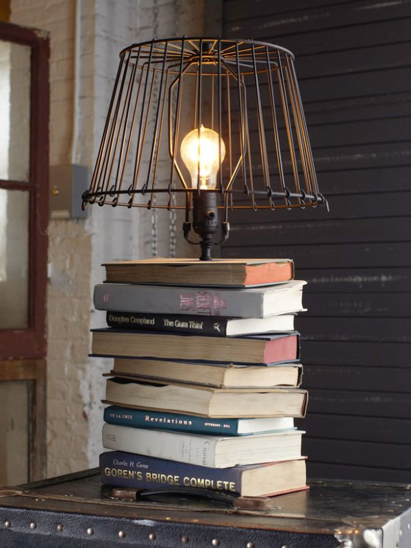 5 simple and inventive diy bedside table lamps view in gallery keyboard keysfo Choice Image