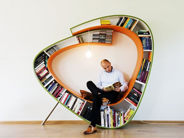 The Bookworm Bookcase An Unconventional Alternative For Reading Nooks
