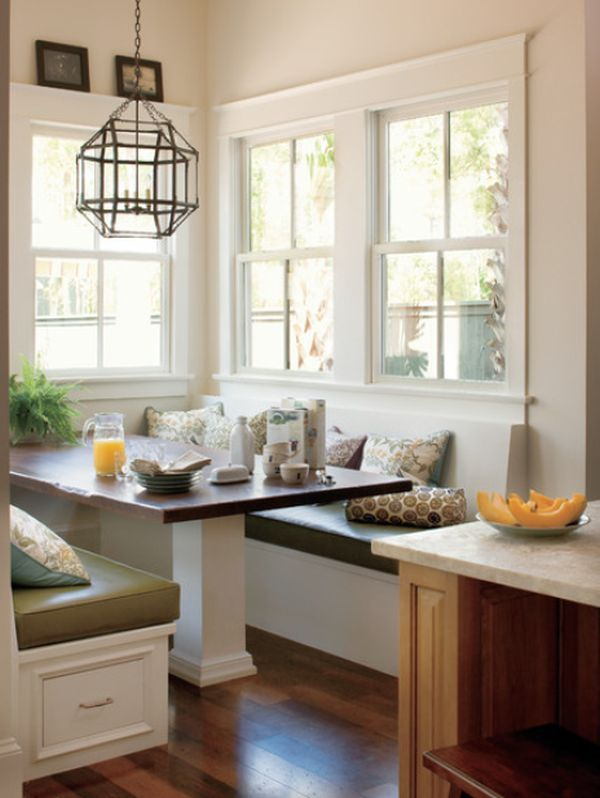 View in gallery Cozy breakfast nook with built-in seating and storage,  featuring a traditional design View ...
