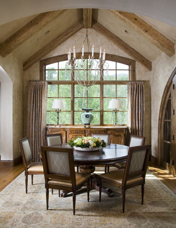 eclectic dining room with an intimate  inviting atmosphere View. 13 Cozy and inviting country style dining rooms