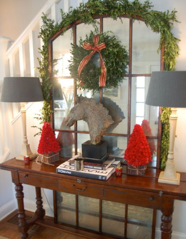 7 christmas entryway d cor ideas for Xmas decorations ideas images