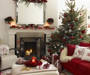 Incorporating Red & Green In Every Room for the Holidays!