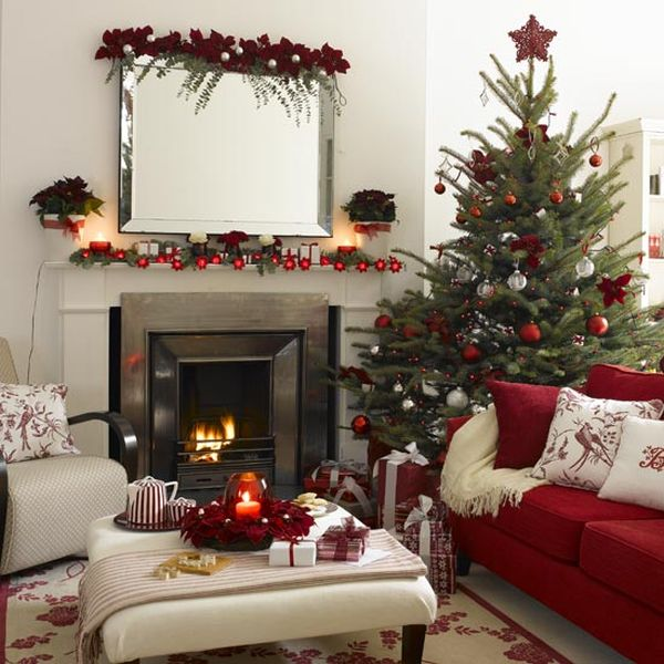 Incorporating Red & Green In Every Room For The Holidays
