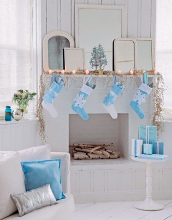 Blue And White Decorating decorating a blue & white christmas: ideas & inspiration