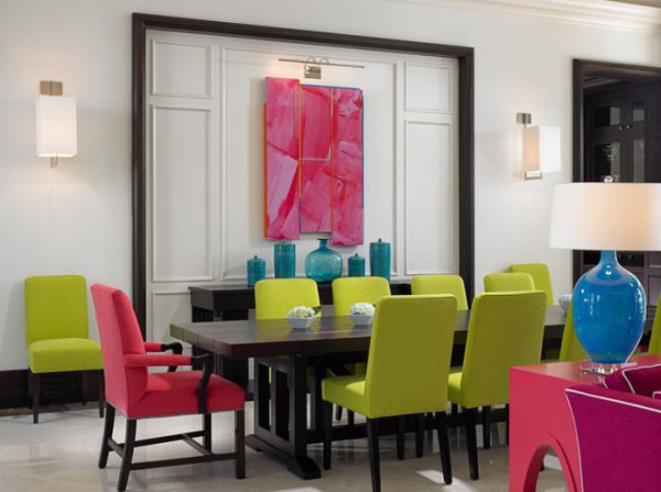 View in gallery - Colorful Chairs – A Great Way To Add Dynamism To The Dining Room