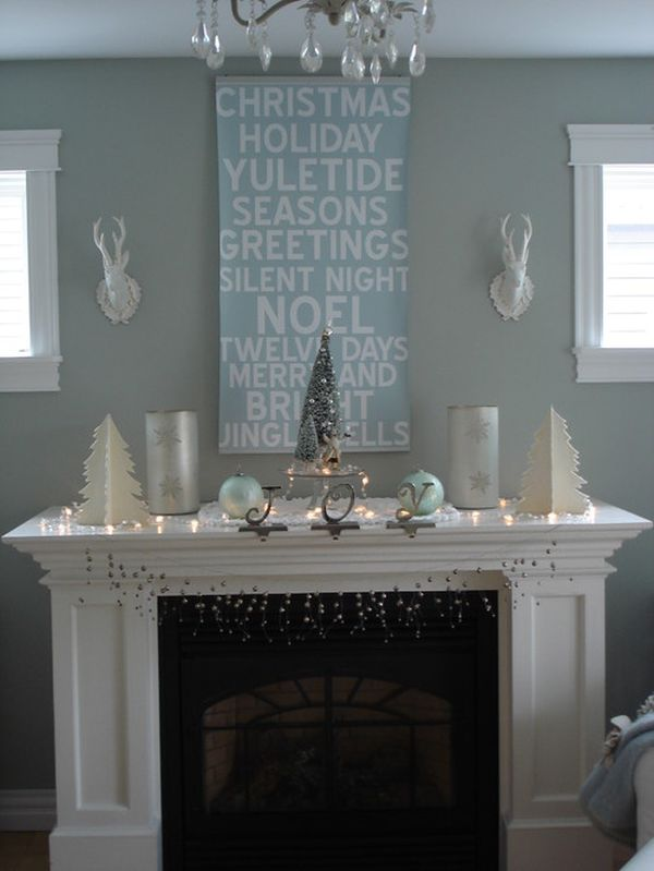 view in gallery - White Christmas Decorating Theme