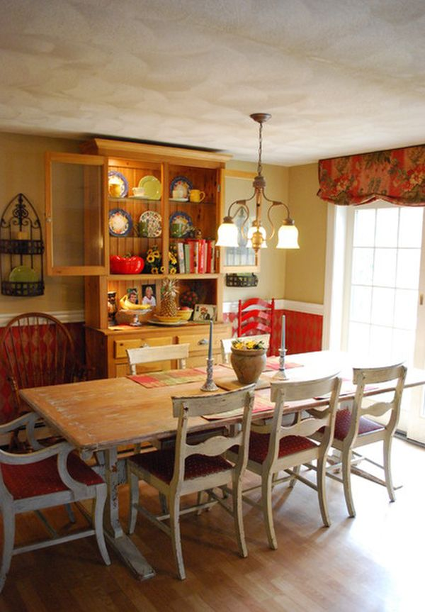 Country Dining Room Color Schemes 13 cozy and inviting country-style dining rooms