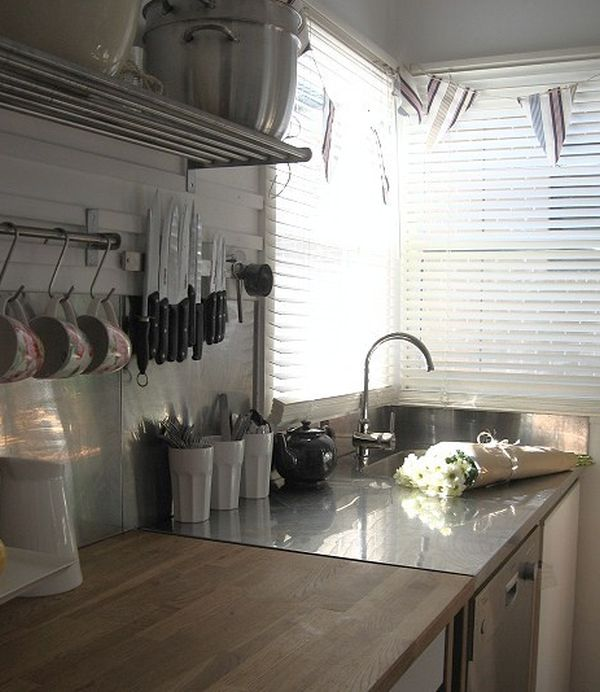 View In Gallery Practical And Handy Knife Rack Placed Above The Kitchen Sink