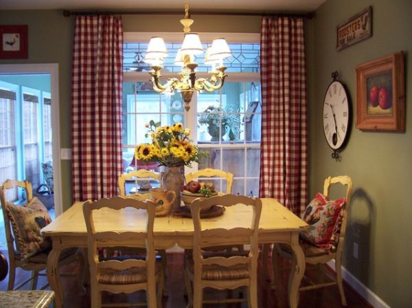 13 cozy and inviting country style dining rooms. Black Bedroom Furniture Sets. Home Design Ideas