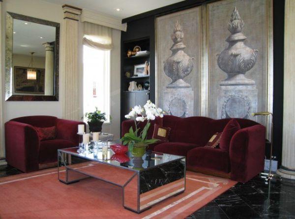 burgundy and black living room decorating a cranberry colored living room ideas and 20394
