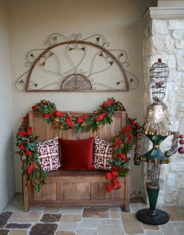 Foyer Door Decorating : Christmas entryway décor ideas