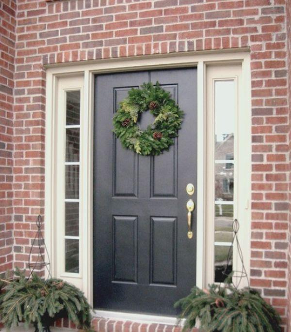Foyer Door Decor : Christmas entryway décor ideas