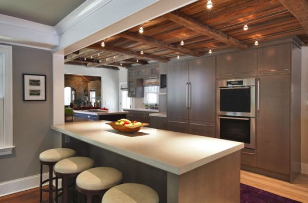 Warm kitchen colors - A Few Ways Of Turning A Tray Ceiling Into A Beautiful