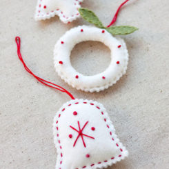 Cute and cuddly felt christmas trees and other ornaments 10 diy felt christmas ornaments pronofoot35fo Images